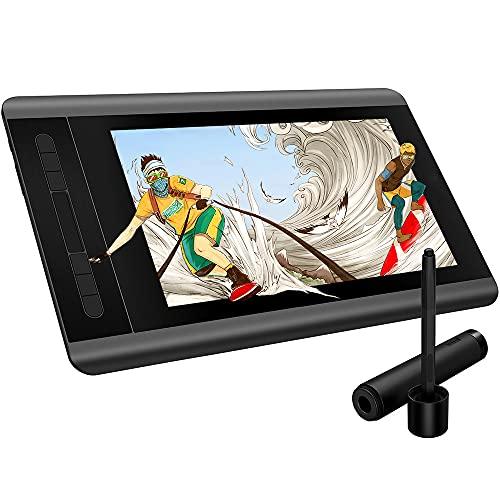 Tableta Gráfica Tableta De Dibujo Monitor De Dibujo 1920 X 1080 HD IPS con Teclas De Acceso Directo Y Panel Táctil