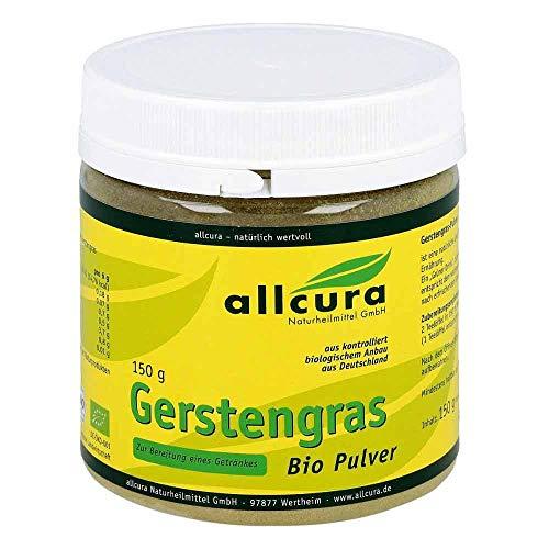 allcura Gerstengras Bio Pulver, 150 g Pulver
