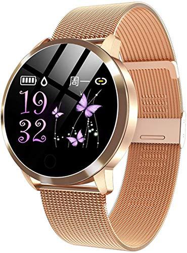 Reloj Inteligente Q8 Plus Pantalla de Color Reloj Inteligente Señoras Moda Fitness Tracker Monitor Pulsera para Ios Android-G.
