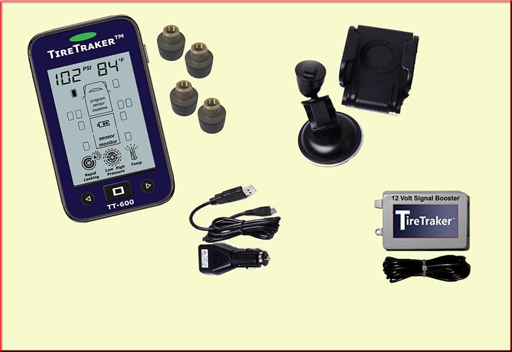 4 Popular brand years warranty TireTraker TT-600 Wheel Tire Monitoring System