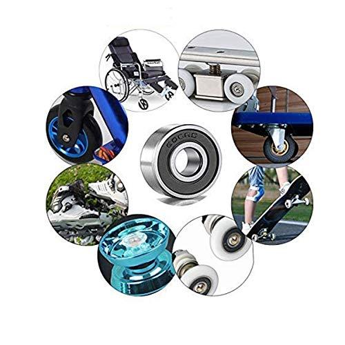 MoKell 608-2RS 8x22x7mm roller skate bearings Ball Bearings and double rubber sealed miniature deep groove ball bearings,suitable for skateboard bearings,3D printer RepRap wheels,inline wheels(22Pack)