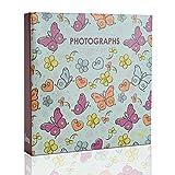 ARPAN Einsteckalbum für 200 x 4 x 6 Zoll / 10 x 15 cm Fotos, Schmetterlinge, 22 x 21,5 x 4,5 cm