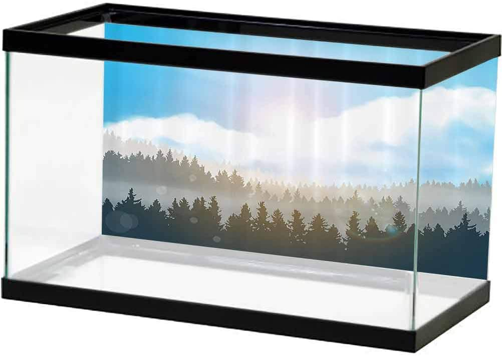 ScottDecor Nature All stores are sold 3D Double-Sided Arlington Mall AdhesiveWallpaper Hazy Mountai