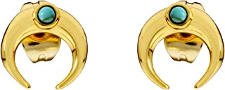 Gorjana Cayne Crescent Charm Two Tone One Size Earring RE193010116G