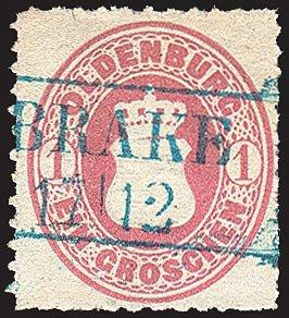 Goldhahn Oldenburg Nr. 17 gestempelt Briefmarken für Sammler