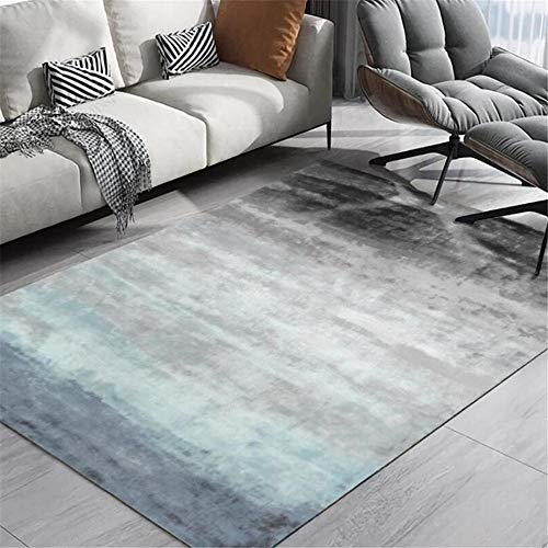 WQ-BBB Super Soft no allergies Indoor Rugs Simple abstract design home Designer Carpet gradient gray blue dosen't shed Carpets 160X230cm