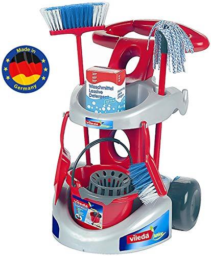 Theo Klein 6721 - Vileda Besenwagen mit Zubehör, Spielzeug