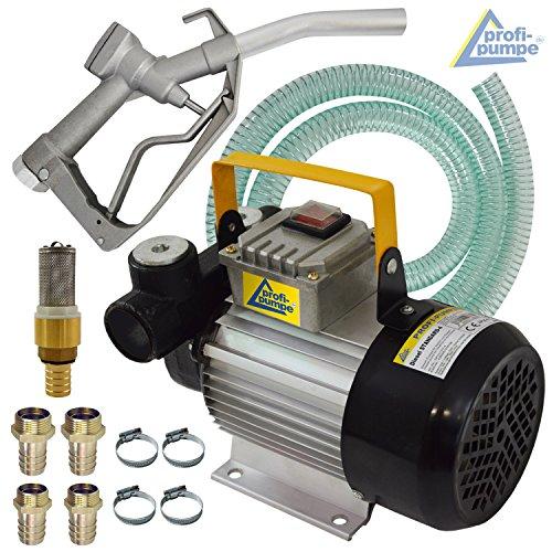 Top-Sonderpreis! Dieselpumpe Heizölpumpe SELBSTANSAUGE Pumpe mit/ohne Zähler für Diesel + Heizöl, 12V / 230V Elektro- Fasspumpe Set Zapfpistole, flexibler Schlauch, hochwertige Verbindungsteile