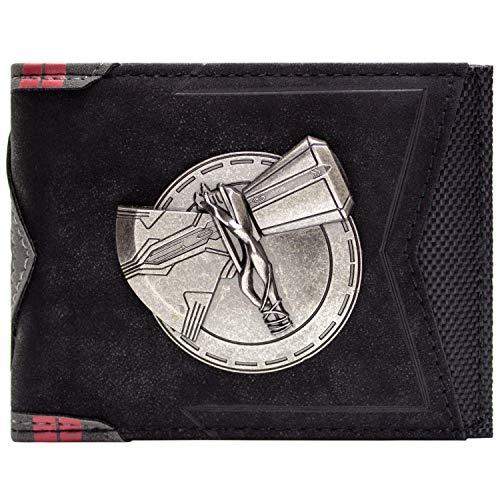 Endgame Avengers Thor Stormbreaker ID and Card Bi-Fold Wallet Black