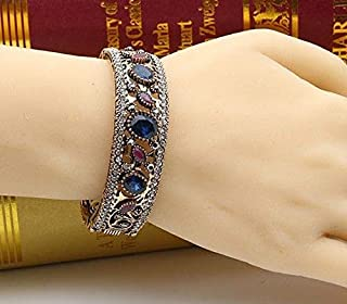 FidgetKute Turkish Jewelry Ethnic Bracelet Bangle Cuff Stone Arab Islamic Vintage Girl Gift