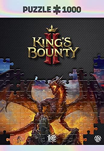 King'S Bounty II: Dragon - Puzzle 1000 Piezas 68cm x 48cm | Incluye póster y Bolsa | Videojuego | Puzzle para Adultos y Adolescentes