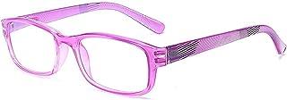 YUNCAT Gafas de Lectura Unisex con Lentes de Aumento para Leer Hombres Mujeres Inc Caso en varios colores y graduaciones