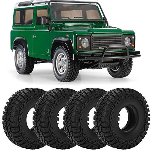 Pneus de roda de borracha, pneus profissionais 1/10 RC, para carro RC, modelo SCX10 90046 1/10 Carro RC, modelo RC carro de brinquedo
