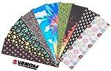 Venom Skateboards Premium Range - Cinta de agarre para monopatín (29 x 33 pulgadas), Huesos cruzados