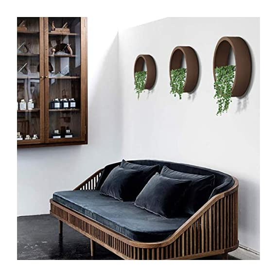 ZEETOON 3 Pack Set Modern Wall Planters Succulent Planter Circle Metal Flower Pot Indoor Air Plant Vertical Container Hanging Vase Home Decoration Size S,M,L Black, with 3 Artificial Succulent Plants 5 MATERIAL: Stabilized iron alloy metal with powder coating ensures long lasting color and withstands extreme weather conditions. Tempered and limpid glass feasts your eyes, add visual intrigue to this wall hanging. Do not rust and no unpleasant smell. PLANTS: Great for succulent plants, air plant, mini cactus, faux plants, artificial plant. It also works for mint, herbs, basil, ivy, flowers, climbing plants, evergreens. The possibilities are only limited by your imagination; display them in a wall hook plant holder, a wall mount, a geometric glass vase, or even in a live wreath. They can even make the perfect desk centerpiece for your office. IDEAL: ZEETOON Wall Vase Perfect for displaying your favorite hanging plants, this wall holder is a basic piece that will fit perfectly anywhere. Outdoor or indoor, kitchen, bedroom, great garden shed decor, farmhouse style wall decor, front entry way, or mounting on bathroom.