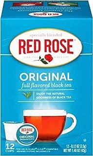 Red Rose Original Black Tea Single Serve Cups (Keurig Compatible) - 12 Count