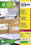 Etichette in carta riciclata bianca per buste e pacchi 99,1x33,9mm - Laser - 100 ff