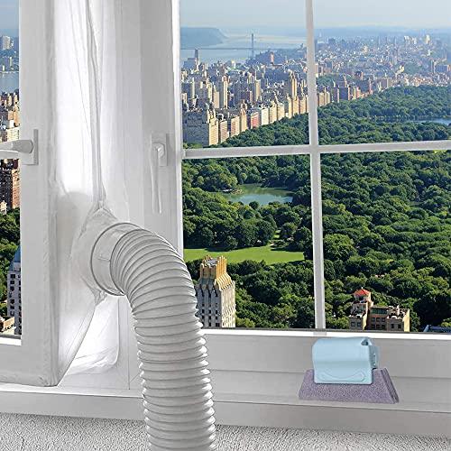 Gobesty Fensterabdichtung für Klimageräte, Klimaanlage Fensterabdichtung, Fensterabdichtung für Mobile Klimageräte, zum Anbringen an Fenster,Dachfenster, Flügelfenster Klimaanlage (Weiß 400 cm)