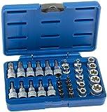 Set di chiavi a bussola Torx, 34 pezzi,