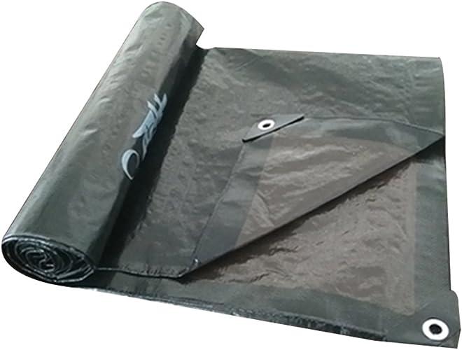 LBYMYB Voiture électrique Tissu étanche à La Pluie Tissu Solaire Tissu étanche Tissu Anti-Soleil Bache épaisse Voiture Camion Extérieur Parasol Bache extérieure (Couleur   noir+marron, Taille   4x5m)