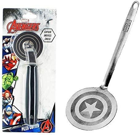 Marvel Captain America Silver Spatula And Pizza Cutter Bundle product image