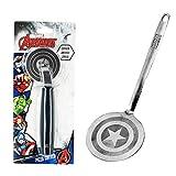 Marvel Captain America Silver Spatula And Pizza Cutter Bundle