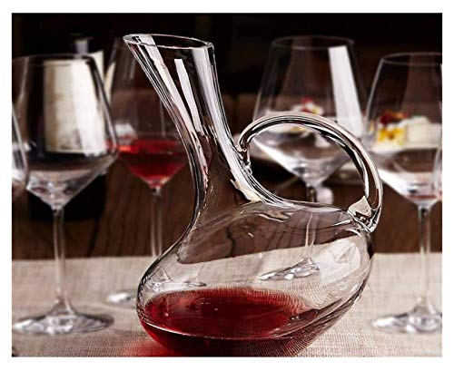Vasos de cóctel, dispensador de botella de licor decantador de vino con asa de cristal de copa de vino tinto jarra de beber regalo accesorios de vino 1500 ml 1 juego de regalo de whisky