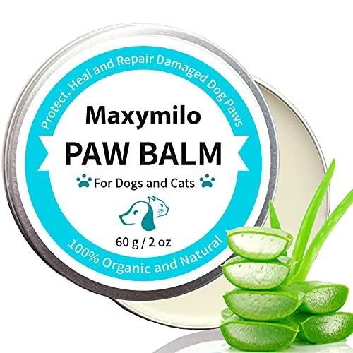 Maxymilo Perro orgánico para el cuidado de las patas con manteca de karité y aloe vera, protector de patas para perros, bálsamo para las patas de los perros