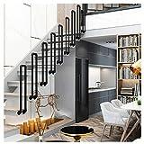 Handrail Stair Kit U-Shaped Iron Railing for Lofts, Villas, Bars, Gardens Easy to Install Corridor Support Rod Black(Size:35cm)