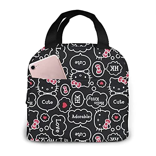 Painting Hello Kitty - Bolsa de almuerzo impermeable reutilizable para mujer