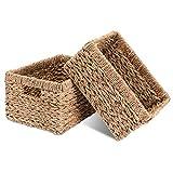 Decorasian - Juego de 2 cestas de almacenamiento (trenzadas, de junco marítimo,...