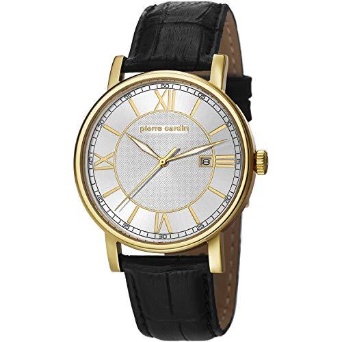 Pierre Cardin PC106501F02 - Reloj para Hombres, Correa de Cuero Color Negro