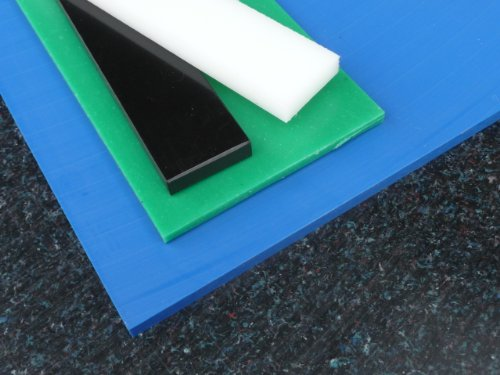 Platte aus PE-HD, 1000 x 495 x 8 mm schwarz Zuschnitt PE alt-intech®