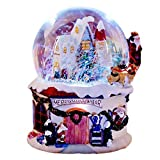 shopparadise クリスマスオルゴール スノードーム スノーオルゴール 音楽付き 音楽 ライト 回転可能 冬の風景 クリスマス雪のハウス クリスタルボールオルゴール スノーオルゴール 32曲再生 クリスマス 記念日 誕生日 プレゼント (c)