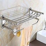 DNSJB - Toallero de 2 pasos, cromado y toallero para baño, con...