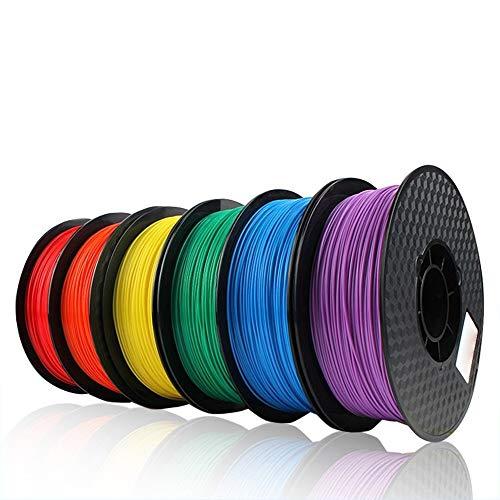 LPL Accessoires Imprimante 3D PLA 3D Printer Filament 1.75mm ABS PLA 1,75 Filament 24 Couleurs Blanc Précision dimensionnelle +/- 0,05 mm 1 kg (2,2 LB) / Spool