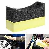 Qiman Auto-Berufsreifen-Reifen-Dressing-Applikator gebogener Schaum-Schwamm-Auflage