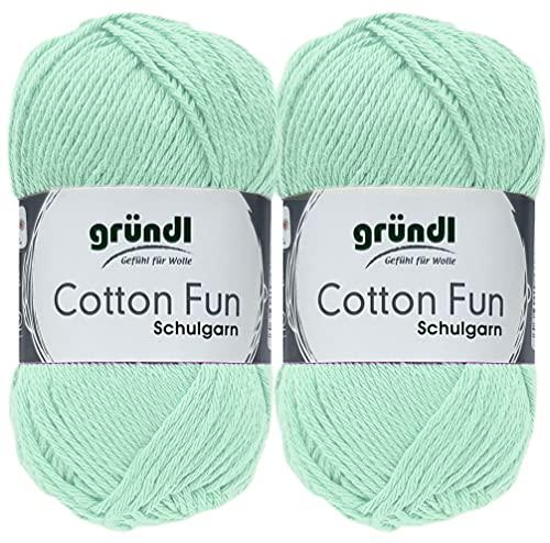 2x50 Gramm Gründl Cotton Fun Häkelgarn...