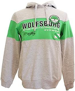 VfL Wolfsburg Hoodie grau grün weiß