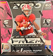 Prizm Draft Picks will be the first collegiate football product released in 2020, making it the first chance for collectors to get autographs from potential top picks in the 2020 NFL Draft.