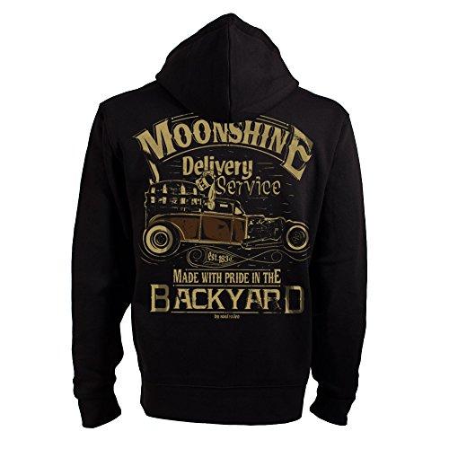 ROAD RODEO Kapuzenpullover, Hoodie, Zip, Jacke, Rock'n'Roll, XXX, Schnaps, Moonshine Delivery