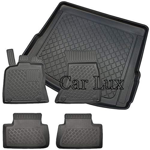 Car Lux DUO2603 – Exclusiv Ensemble de tapis sur mesure Type bac avec bord haut