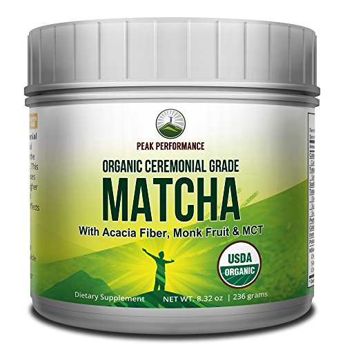 Organic Keto Matcha Green Tea Powder. Organic Coconut MCT Oil Powder. Acai Fiber and Monk Fruit. Japanese Ceremonial Grade Best Tasting Zero Sugar Matcha for Ketogenic Diet. Ketosis and Ketone Energy