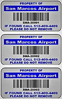 """500 2"""" x 1"""" Blue, Green, or Red Custom Mat Silver Metalized Polyester Asset Tags Featuring Easy""""Do It Yourself Design"""". Click This Listing for Quantity Variations and Color Options"""