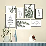 SEVEN WALL ARTS - Premium Poster Set - Natur Eucalyptus