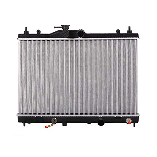 Lynol Cooling System Complete Aluminum Radiator Direct Replacement Compatible With 2007-2012 Nissan Versa Automatic Transmission CVT L4 1.6L 1.8L