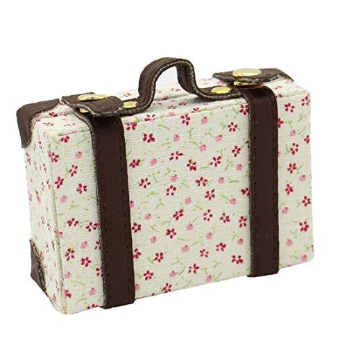 Heall Mini Exquisita de Equipaje Caja 6 Puntos maletín de Transporte Maleta Maleta Miniatura Cajas para la casa del Juguete en Miniatura de Equipaje Casa Almacenamiento Accesorios del Multicolor