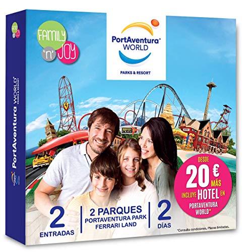 NJOY Experiences - Caja Regalo - PORTAVENTURA World - 1 Dia en PortAventura Park + 1 Dia en PortAventura Park y Ferrari...
