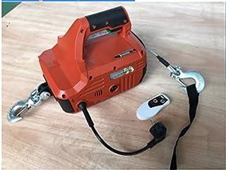 GOWE 551LBS/250KGX8M cabrestante eléctrico portátil con mando a distancia inalámbrico, cabestrante eléctrico de acero con cuerda para remolcar