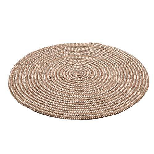 Tejido con una cuerda Alfombra redonda Salón Dormitorio Vestidor de cabecera Niño rastreo alfombra Cómoda silla de la computadora Colgante Alfombra de la cesta Alfombra simple del estilo europeo